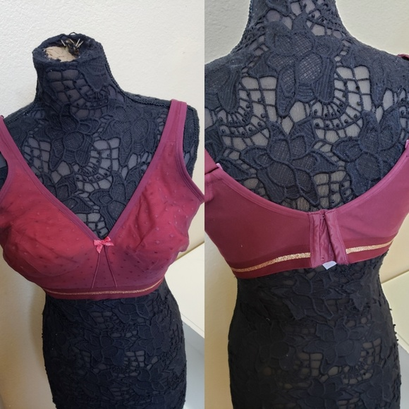 Cacique Other - Beautiful burgundy angel gold bra from lane Bryant